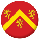 Anglesey Flag 58mm Button Badge